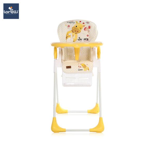 Lorelli - Столче за хранене TUTTI FRUTTI YELLOW GIRAFFE 10100262035