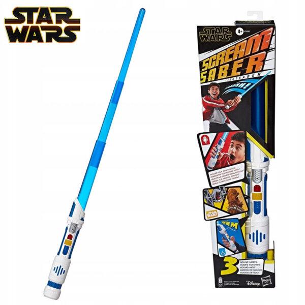 Hasbro Star Wars Светлинен меч със звукови ефекти и функция запис Scream Saber E7557