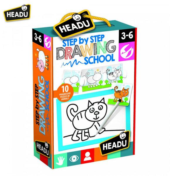 Headu Детски пъзел Училище за рисуване стъпка по стъпка 21062