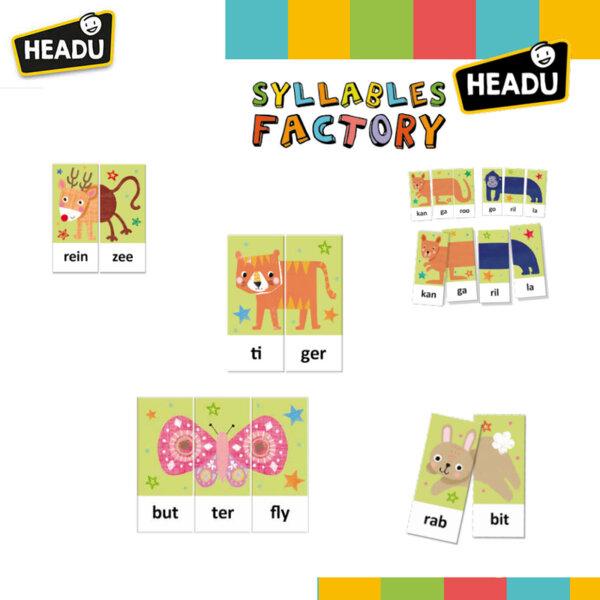 Haedu Montessori Образователна игра Работилница за срички HEN24636