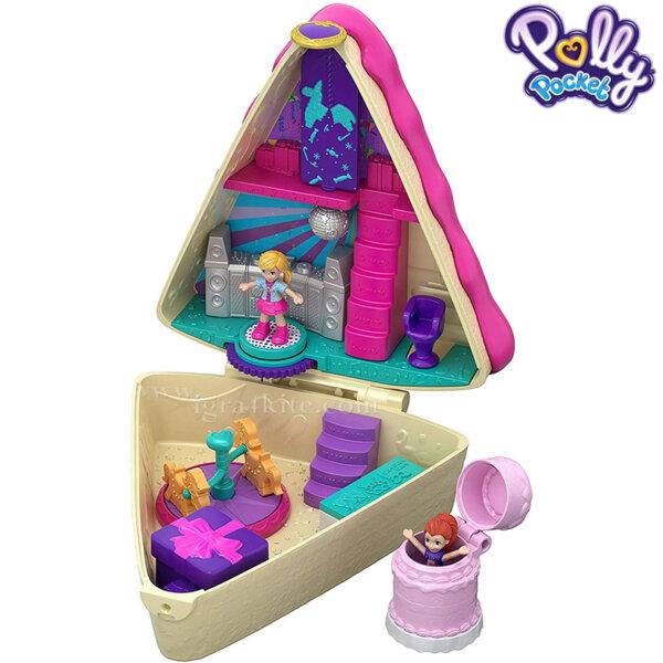 Polly Pocket Комплект за игра Светът на Поли Парти за рожден ден FRY35