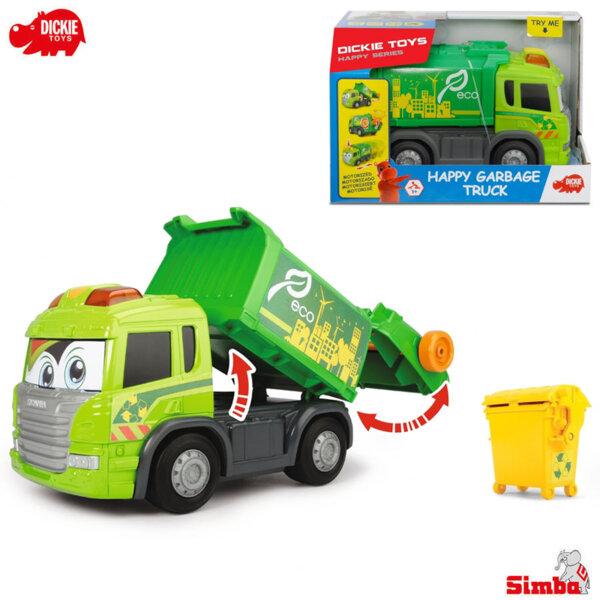 Simba Dickie Камион за боклук със звук и светлини Happy 203814015