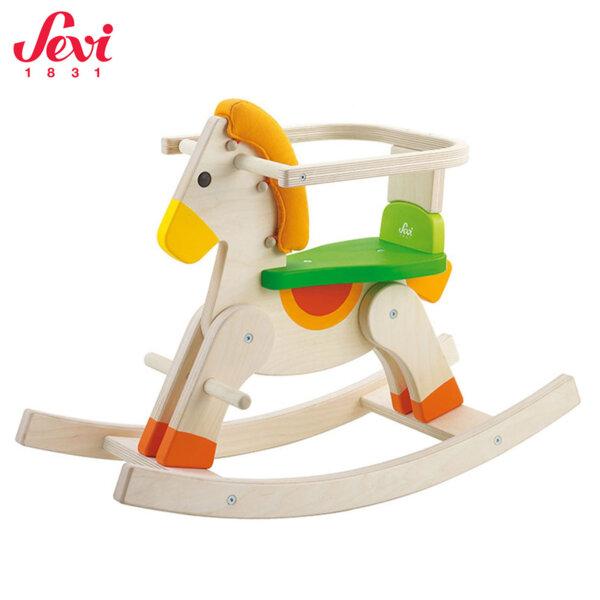 Sevi Дървен люлеещ се кон с предпазен борд Rocking Baby 82328