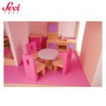 Sevi Дървена къща за кукли с обзавеждане 83045