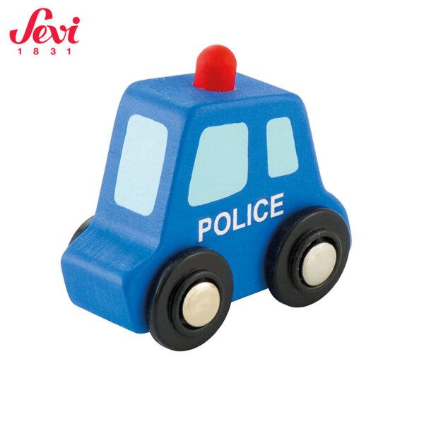 Sevi Дървена мини полицейска кола 82901