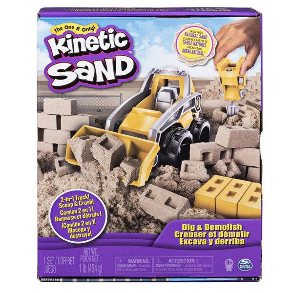 Spin Master Kinetic Sand Кинетичен пясък със строителен камион 2в1 6044178