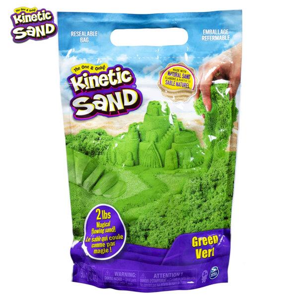Spin Master Kinetic Sand Кинетичен пясък в пликче, зелен 6047182