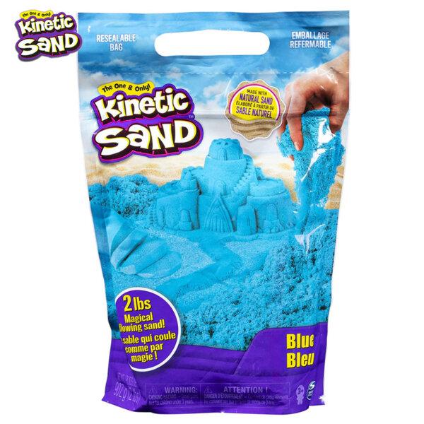 Spin Master Kinetic Sand Кинетичен пясък в пликче, син 6047183