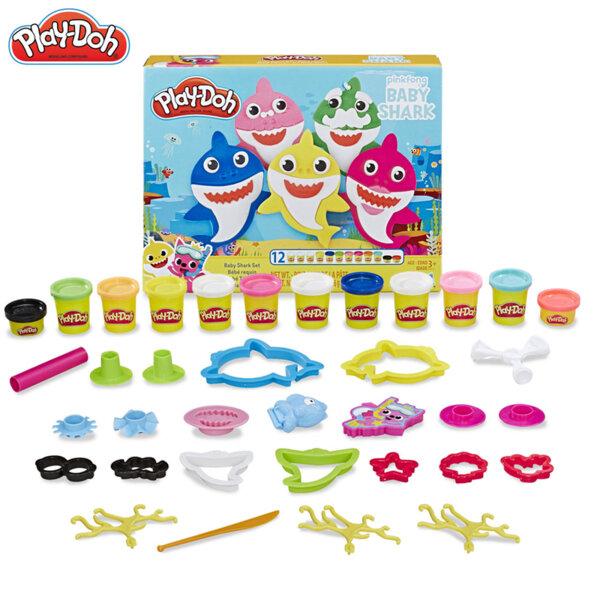 PlayDoh Комплект за моделиране Бебета акули E8141