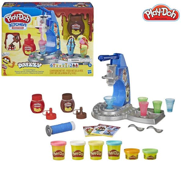 PlayDoh Комплект Забавления в кухнята Машина за сладолед с глазура E6688