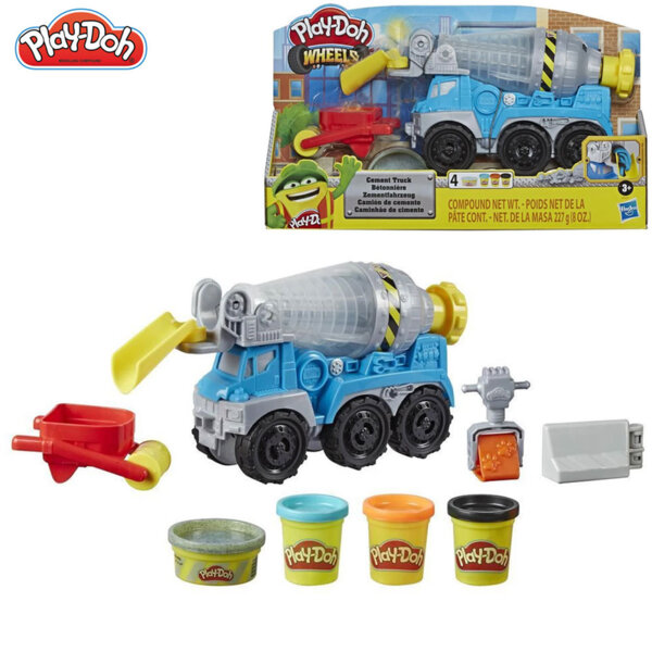 PlayDoh Wheels Комплект бетоновоз и 4 цвята пластилин E6891