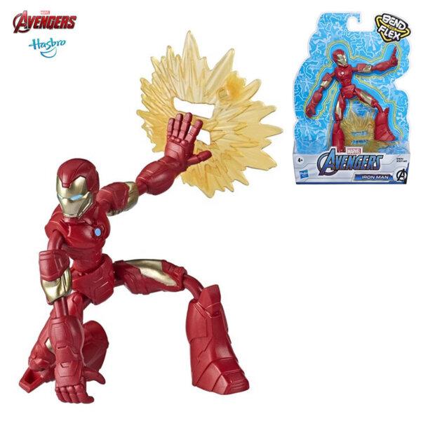 Marvel Avengers Огъваща се екшън фигура Bend and Flex Iron Man E7377