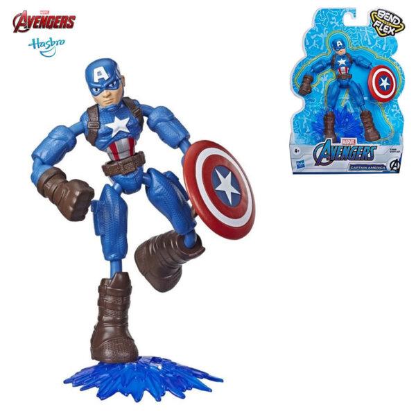 Marvel Avengers Огъваща се екшън фигура Bend and Flex Капитан Америка E7377