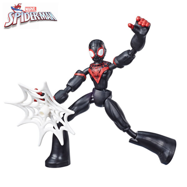 Marvel Spiderman Гъвкава екшън фигура Bend and Flex Miles Morales E7335