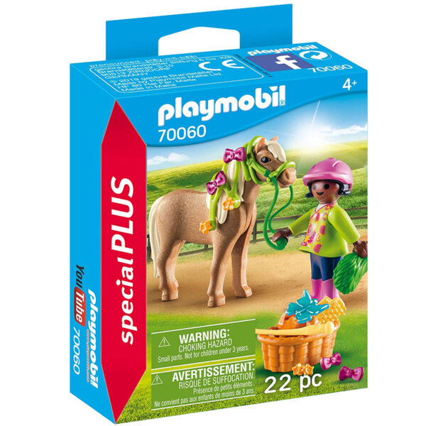 Playmobil Фигурка с аксесоари Момиче с пони 70060