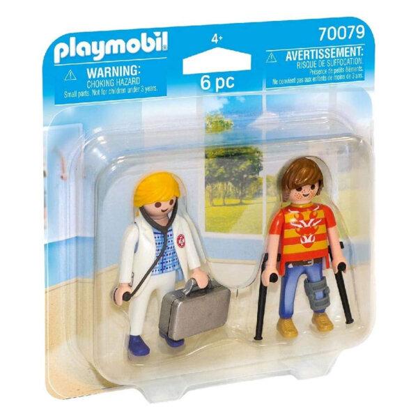 Playmobil Фигурки с аксесоари Лекар и пациент 70079