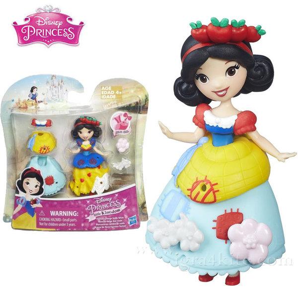 Disney Princess - Малка кукла с втори тоалет Снежанка b5327