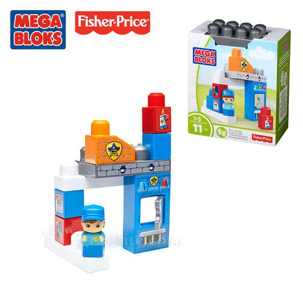 Fisher Price Mega Bloks - Моят първи строител Полицейско управление dyc54