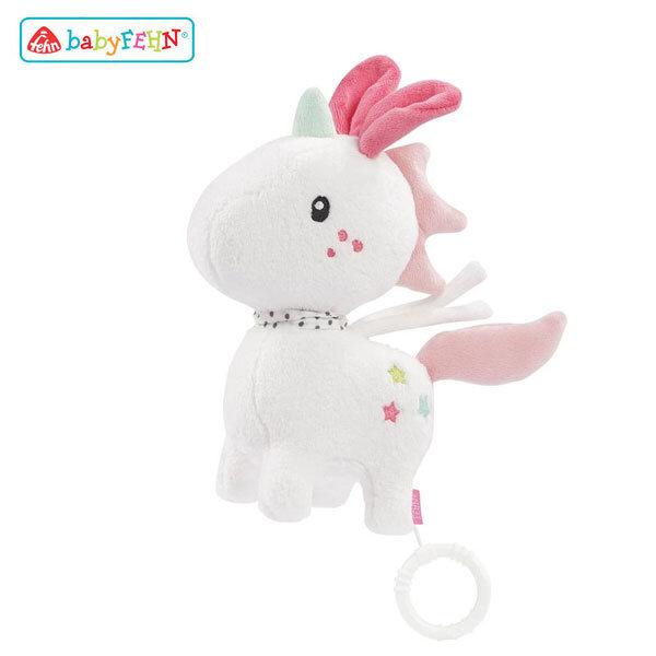 Baby Fehn Музикална плюшена играчка Еднорог 057072