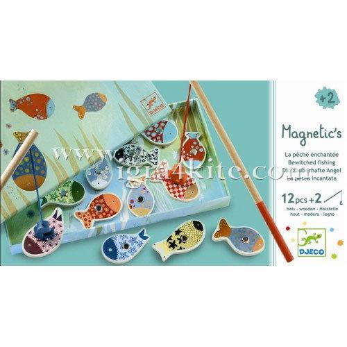 Djeco - Игра с дървени магнити Enchanted Fishing 01650