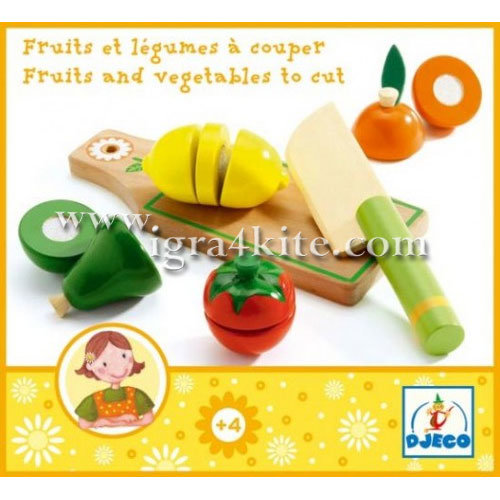 Djeco - Детски комплект Плодове и зеленчуци 06526
