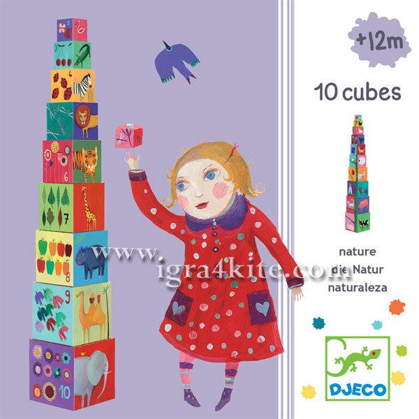 Djeco - Кубчета 10 nature and animals Djeco 08505