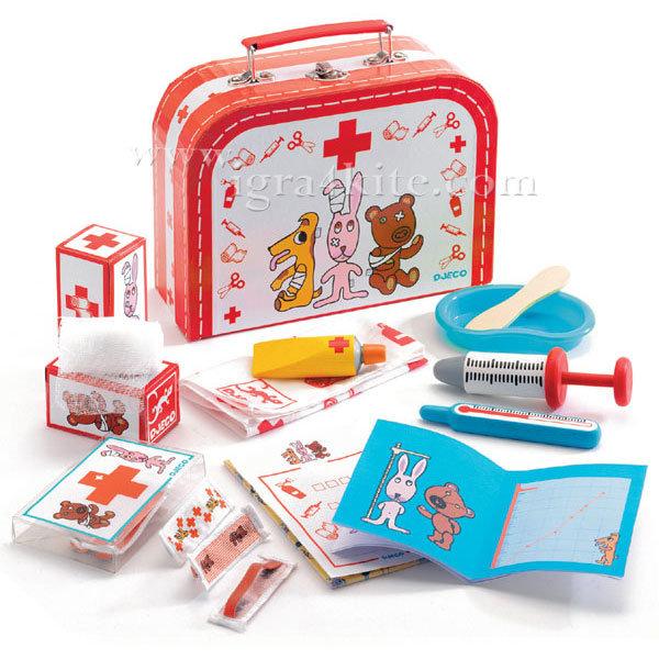 Djeco - Детски комплект ветеринарен доктор 06555