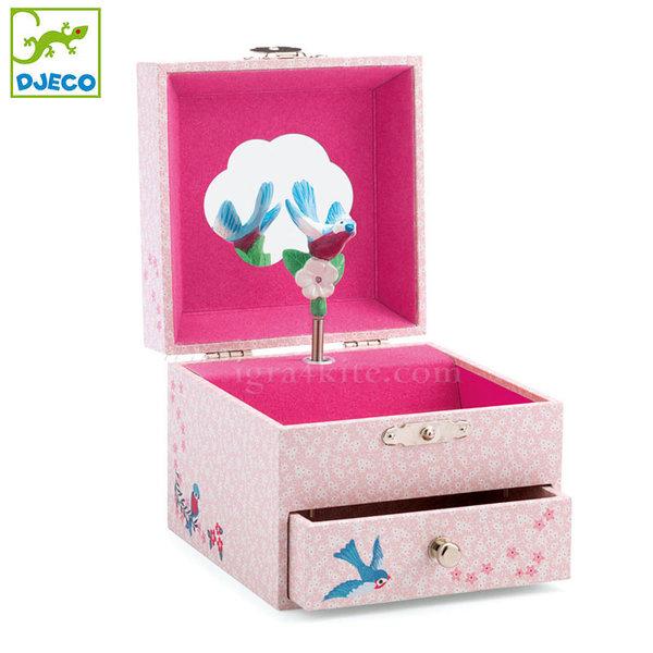Djeco - Музикална кутия за бижута Птиче dj06594