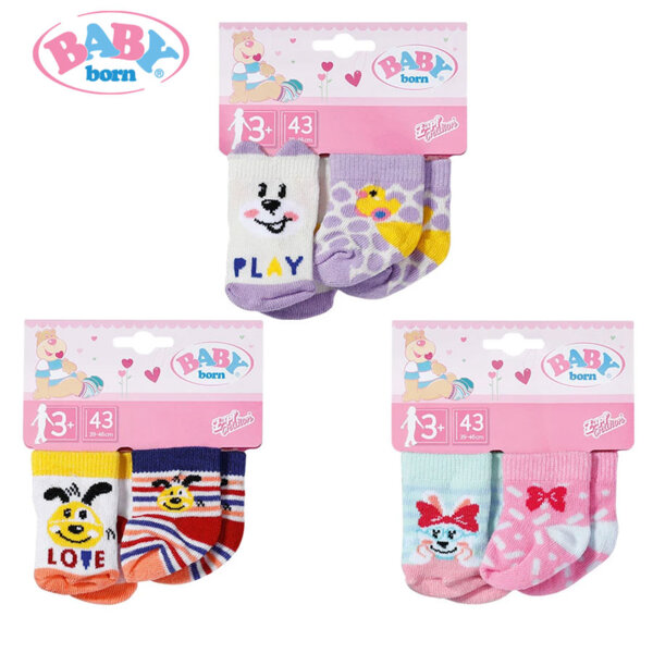Baby Born Комплект Чорапки за кукла Бейби Борн 43см 2 бр 828304