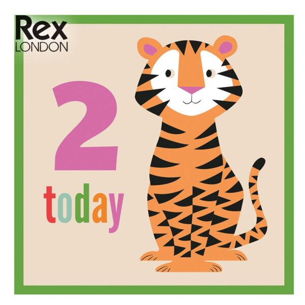 Rex London Картичка за втори рожден ден Тигърчето Теди 26410