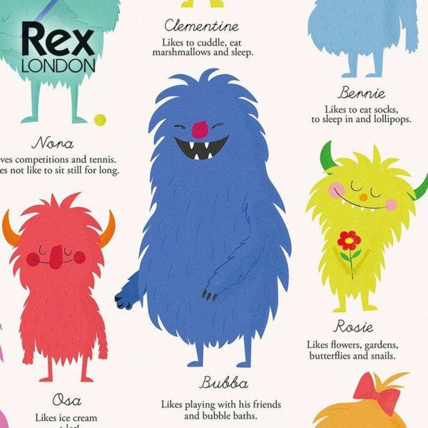 Rex London Опаковъчна хартия Чудовищата на Земята 26610