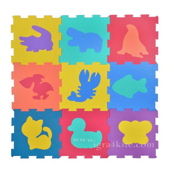 Мек килим пъзел - Животни - 9 части 116131