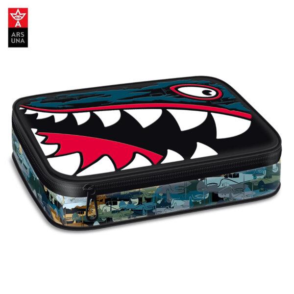 Ars Una Flying Sharks Ученически несесер 1 цип, 2 нива 51340018