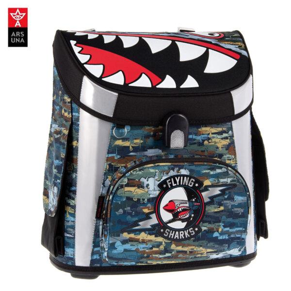 Ars Una Flying Sharks Ученическа раница Compact 54490017
