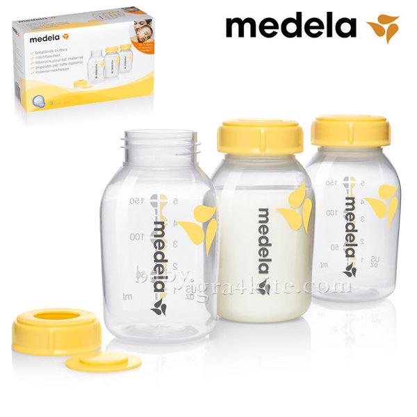 Medela - Бутилки за съхранение и замразяване на кърма 150ml 3бр.