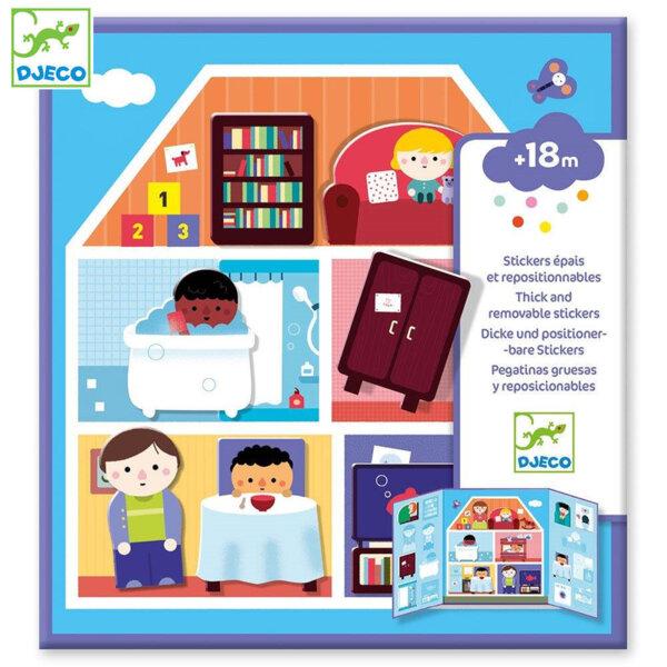 Djeco Комплект стикери Моята къща DJ09072