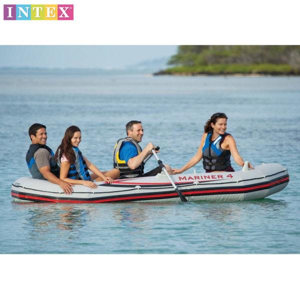 Intex - Надуваема четириместна лодка Mariner 4 68376