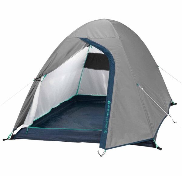 Двуместна двустенна палатка за къмпинг, сива 1743158