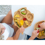 Eco Rascals Детска бамбукова чиния Бухал с жълта основа 55130