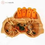 Eco Rascals Детска бамбукова чиния Количка с оранжева основа 55359