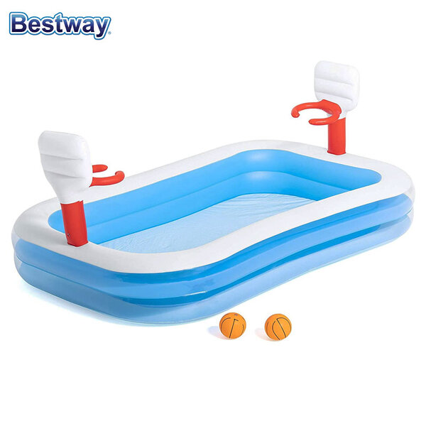 Bestway Детски надуваем басейн Баскетбол 251x168см 54122