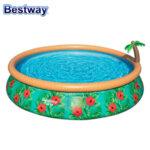 Betsway Надуваем басейн с прускалка, филтърна помпа и филтър 457х84см 57416