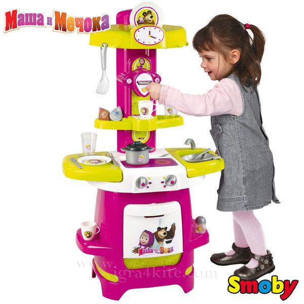 Smoby - Маша и мечока Детска кухня с 16 аксесоара 310700