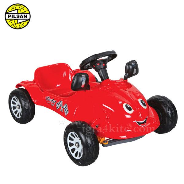 Pilsan - Детска кола с педали Herby 07302 Червена