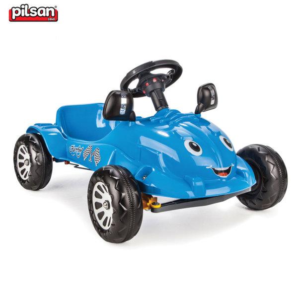 Pilsan - Детска кола с педали Herby 07302 Синя