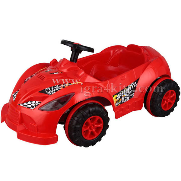 Pilsan - Детска кола с педали Speedy 07312 Червена