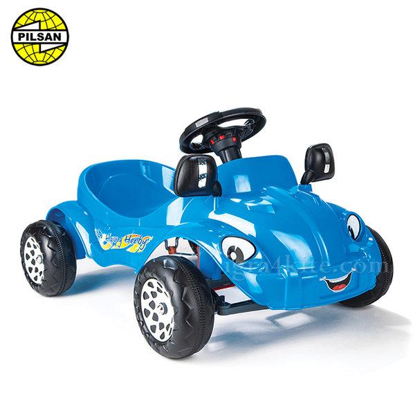 Pilsan - Детска кола с педали Happy Herby 07303 Синя