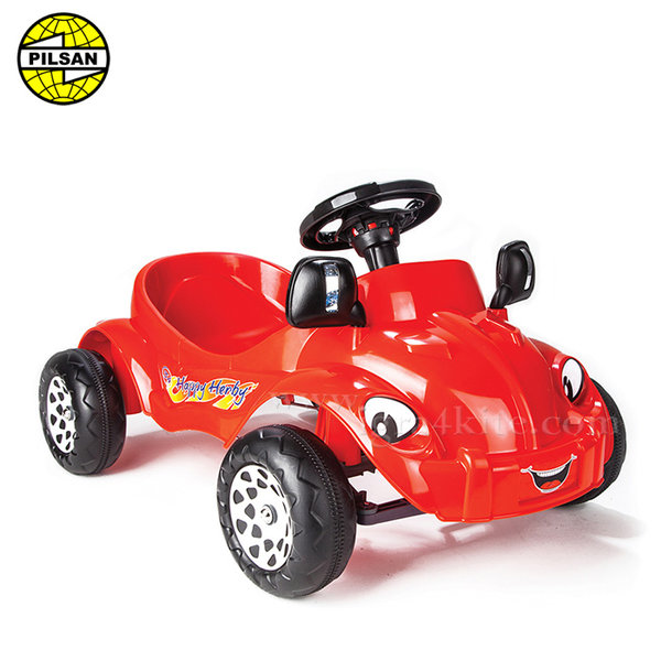 Pilsan - Детска кола с педали Happy Herby 07303 Червена