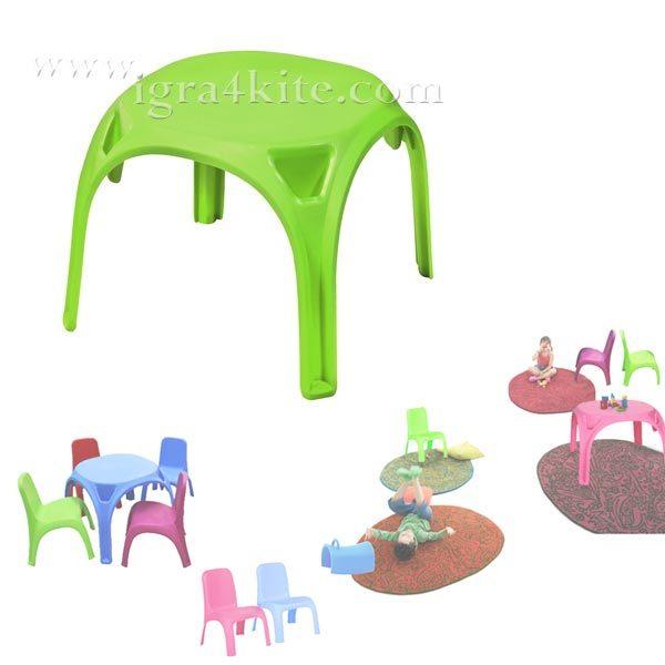 Детска маса зелена