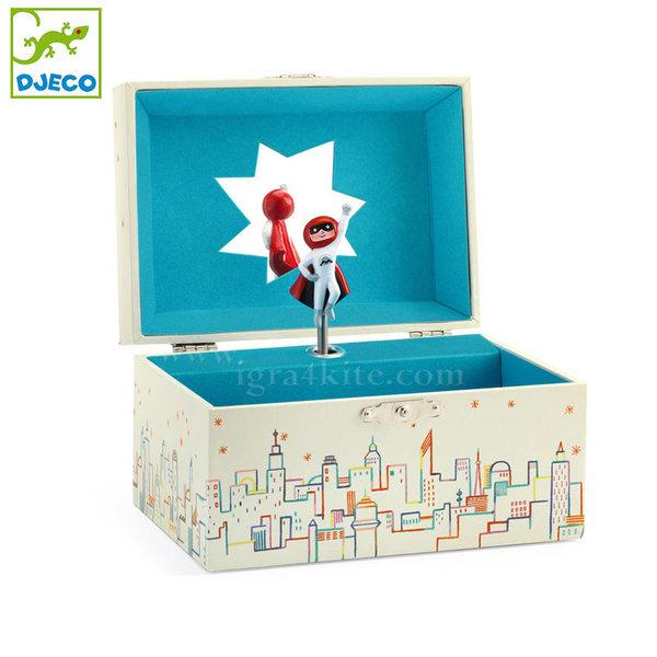 Djeco - Музикална кутия за бижута Супергерой dj06595